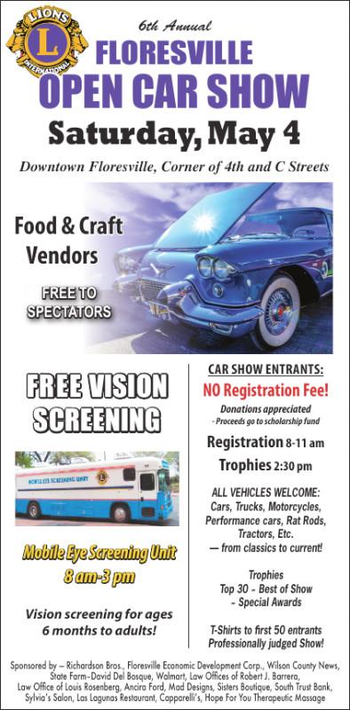 Floresville Lions Club 6th Annual Car Show | GoWilson360