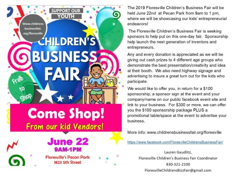 Floresville 2nd Annual Children's Business Fair